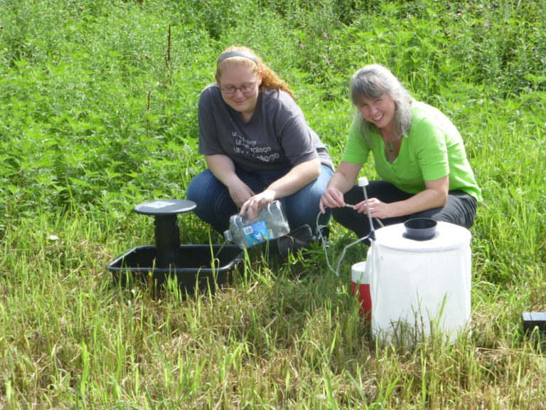 Dr. Blank and Aubrey Mosquito Research
