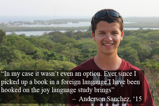 Anderson Sanchez, '15 quote