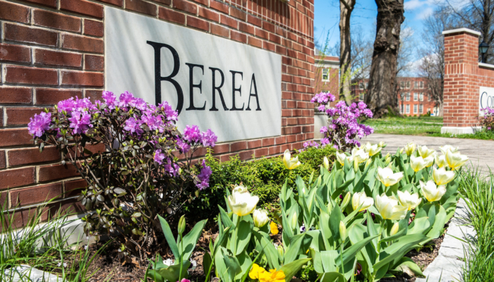 Berea College sign late spring 2021