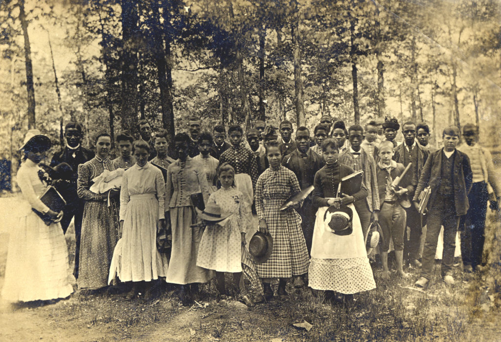 Berea students standing outside c. 1887